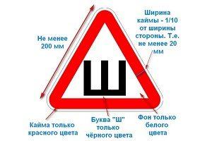 Знак шипы куда клеить по правилам: штраф за отсутствие, зачем нужен, размеры по ГОСТу, обязателен или нет